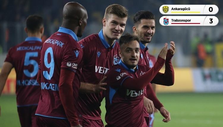 Ankaragücü 0-3 Trabzonspor maç özeti ve golleri (İZLE)