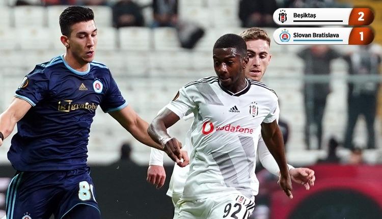 Beşiktaş, Avrupa'da ilk galibiyetini aldı (İZLE)