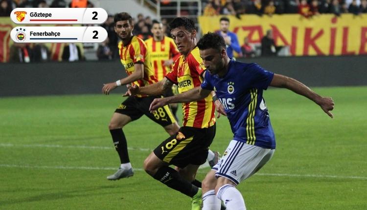 Göztepe ile Fenerbahçe nefes kesen maçta yenişemedi (İZLE)