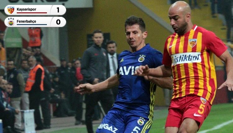 Kayserispor 1-0 Fenerbahçe maç özeti ve golü (İZLE)