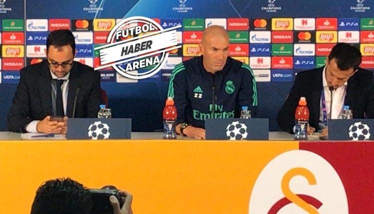 Zidane'dan 6-0'lık Galatasaray galibiyeti sonrası açıklama