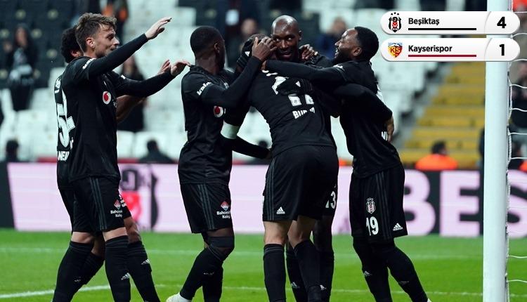 Beşiktaş, Kayserispor engelini farklı geçti (İZLE)