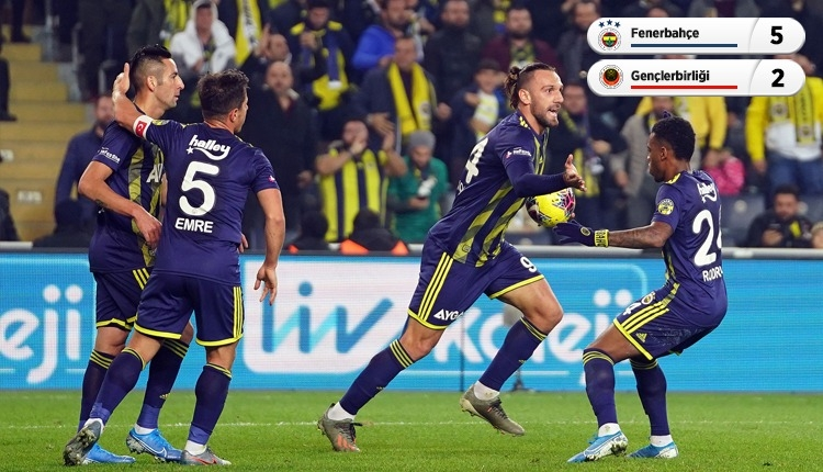 Fenerbahçe, Kadıköy'de Gençlerbirliği'ni farklı geçti (İZLE)