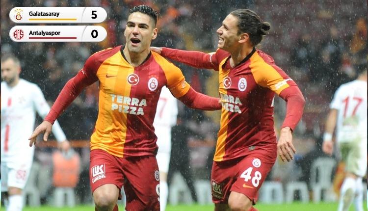 Galatasaray, Antalyaspor'u 5 golle geçti! Falcao sevinci (İZLE)