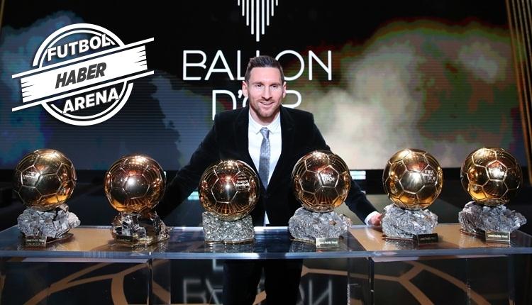 Lionel Messi, Ballon d'Or'u 6. kez kazandı! Ronaldo'yu geçti