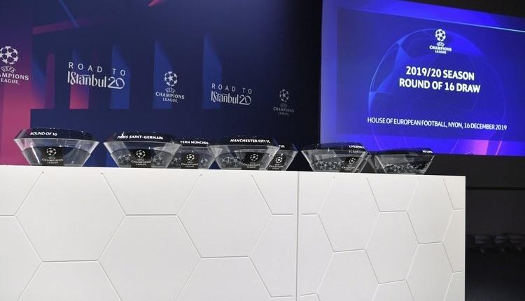 Şampiyonlar Ligi eşleşmeleri belli oldu! (Son 16 turu kuraları)