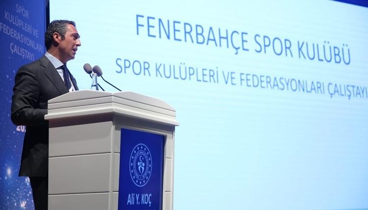 Ali Koç'tan Türk futbolunun sorunlarına çözüm önerileri