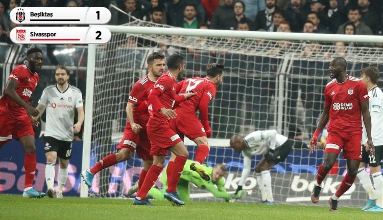 Beşiktaş, Vodafone Park'ta lider Sivasspor'a kaybetti (İZLE)