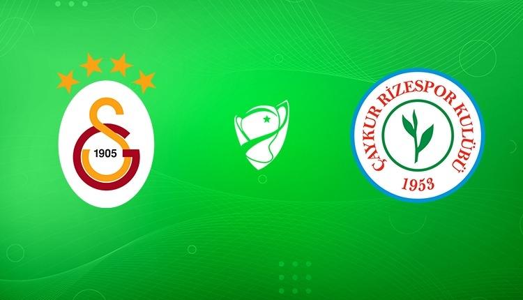 Galatasaray Rizespor maçı ne zaman, saat kaçta, hangi kanalda? Muhtemel 11'ler