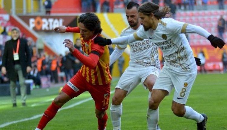 Kayserispor 1-1 Ankaragücü maç özeti ve golleri İZLE
