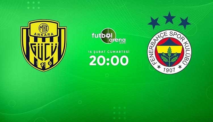 Ankaragücü-Fenerbahçe canlı izle, Ankaragücü-Fenerbahçe şifresiz İZLE (Ankaragücü-Fenerbahçe beIN Sports canlı ve şifresiz maç İZLE)