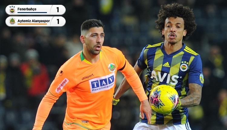 Fenerbahçe, Kadıköy'de Aytemiz Alanyaspor'u geçemedi (İZLE)