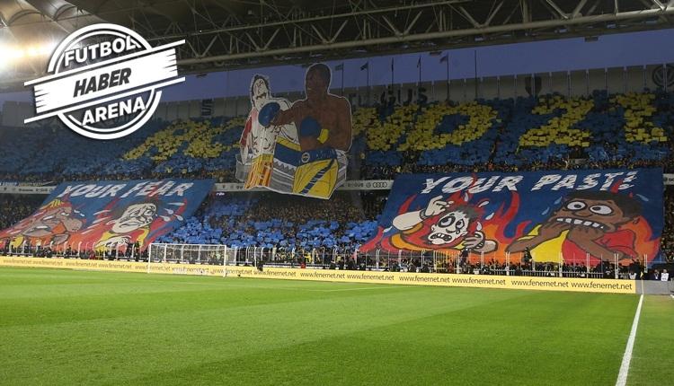 Fenerbahçe'den Galatasaray derbisinde olay koreografi