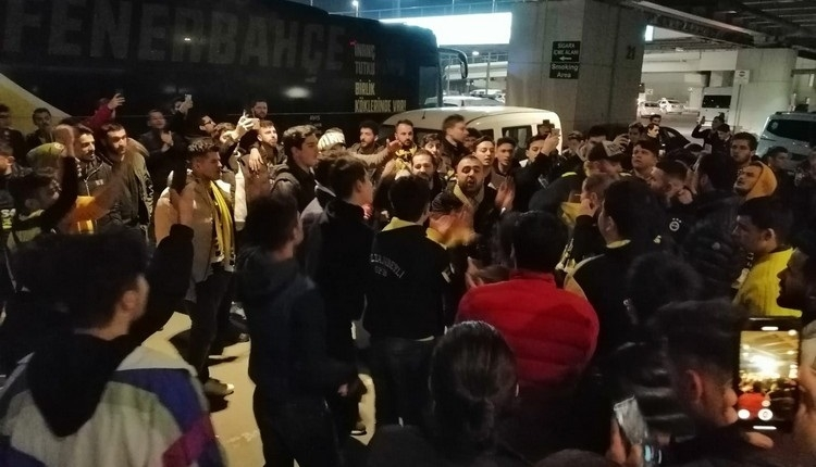Fenerbahçe'ye İstanbul'da coşkulu karşılama!