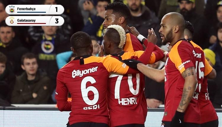 Galatasaray, Fenerbahçe'yi 21 yıl sonra Kadıköy'de yendi (İZLE))