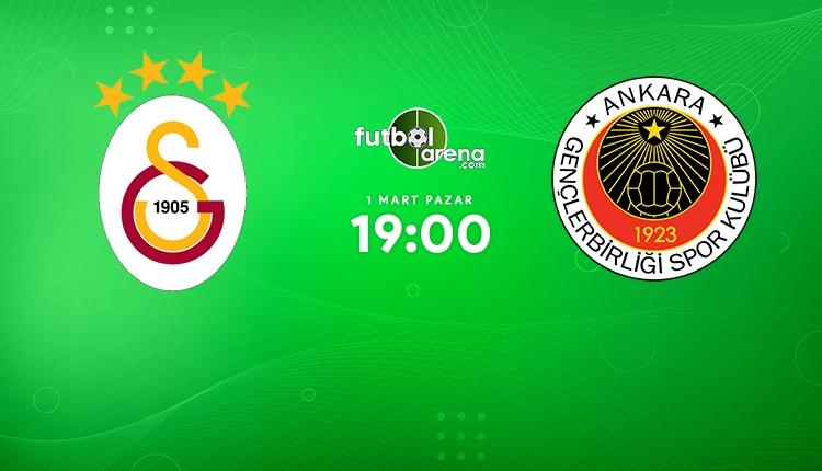 Galatasaray 3-0 Gençlerbirliği maç skoru