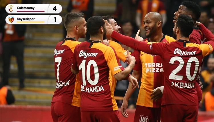 Galatasaray, Kayserispor'u rahat geçti! Fark 5'e düştü (İZLE)