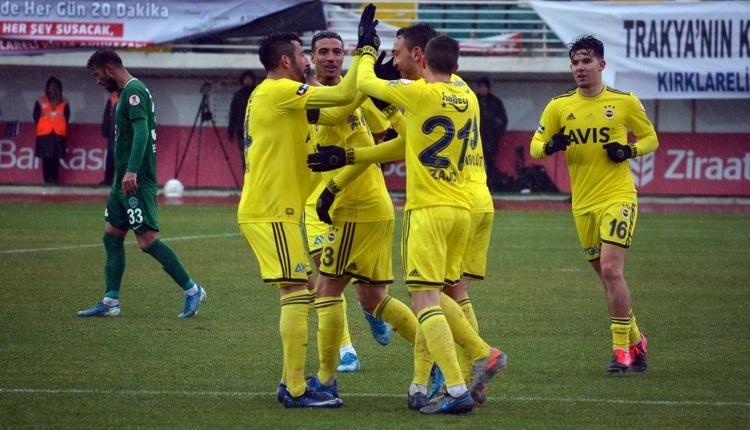 Kırklarelispor 0-3 Fenerbahçe maç özeti ve golleri