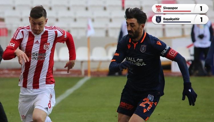 Lider yaralı! Sivasspor 1-1 Başakşehir maç özeti ve golü (İZLE)