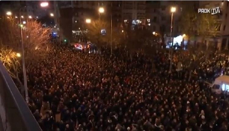 PAOK taraftarları: Adalet için yürüyoruz!