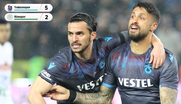 Trabzonspor 5-2 Rizespor, Bein Sports maç özeti ve golleri (İZLE)