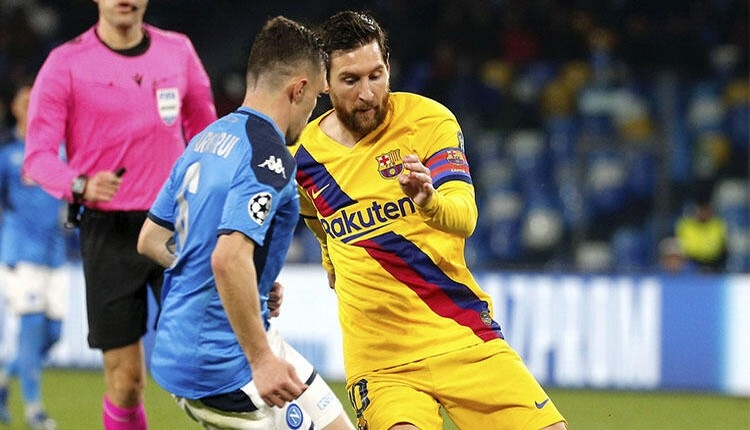 Barcelona - Napoli maçına da koronavirüs darbesi