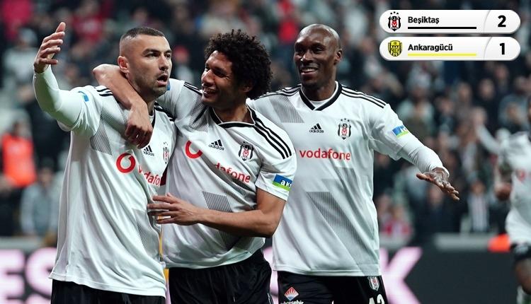 Beşiktaş derbi öncesi Ankaragücü engelini geçti (İZLE)
