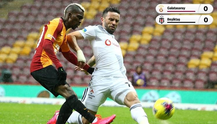 Galatasaray - Beşiktaş derbisinde gol yok! (İZLE)