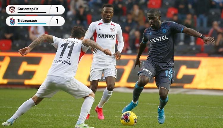 Gaziantep FK 1-1 Trabzonspor, Bein Sports maç özeti (İZLE)