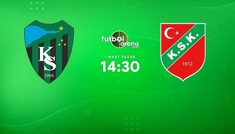Kocaelispor - Karşıyaka canlı izle (Kocaelispor Karşıyaka A Spor maç İZLE)