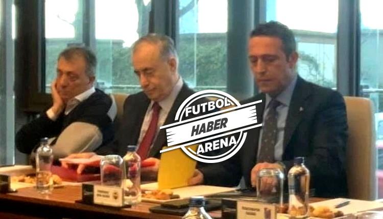 Kulüpler Birliği toplantısında dikkat çeken kare