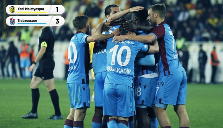 Lider Trabzonspor! Malatyaspor 1-3 Trabzonspor maç özeti (İZLE)
