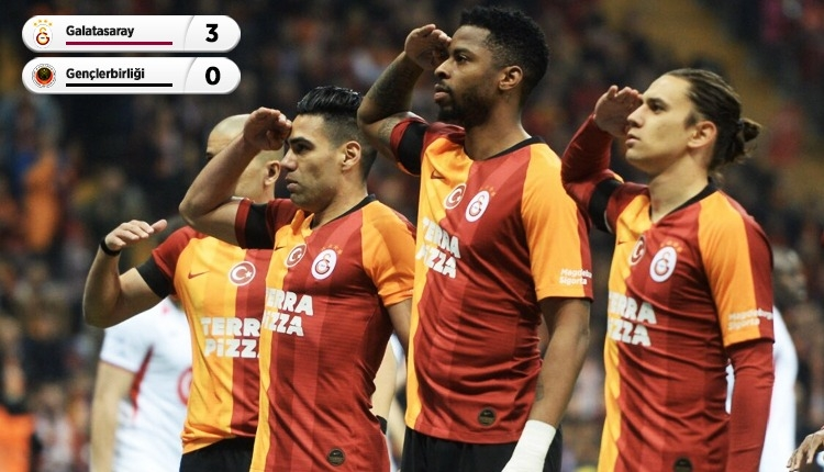 Seri 8'de 8! Galatasaray 3-0 Gençlerbirliği maç özeti ve golleri (İZLE)