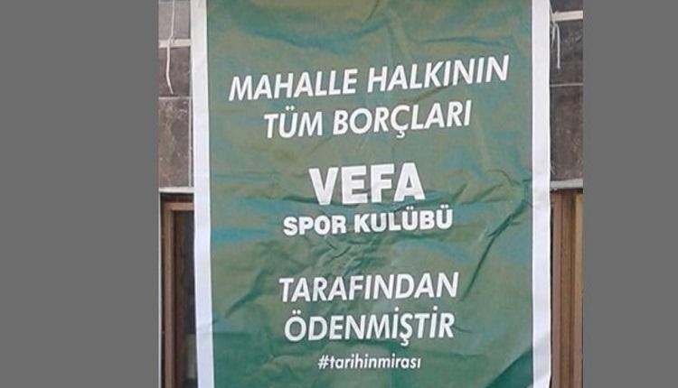 Vefaspor'dan alkışlanan hareket! Mahalle halkının borçlarını kapattı