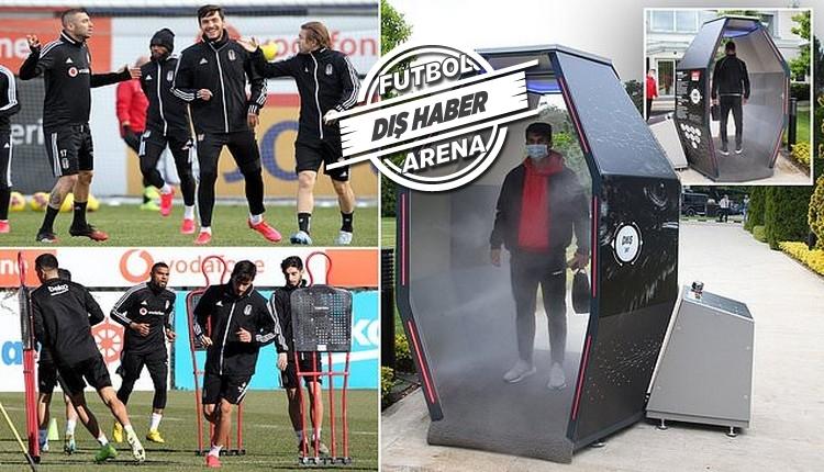 Beşiktaş'ın 'dezenfektan kabini' Avrupa'da manşet oldu