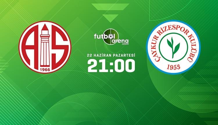 Antalyaspor - Çaykur Rizespor canlı izle (beIN Sports 2 şifresiz canlı yayın)