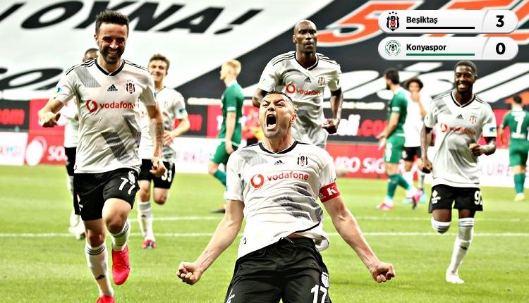 Beşiktaş 3-0 Konyaspor maç özeti ve golleri (İZLE)
