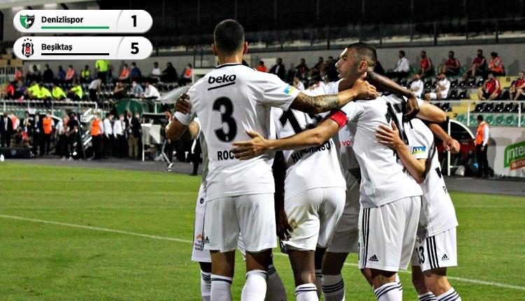 Beşiktaş, Denizlispor'u farklı geçti! Kartal gol olup yağdı (İZLE)