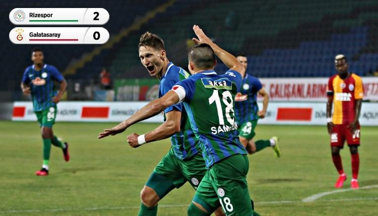 Çaykur Rizespor 2-0 Galatasaray maç özeti ve golleri (İZLE)