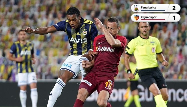 Fenerbahçe 2-1 Kayserispor maç özeti ve golleri (İZLE)