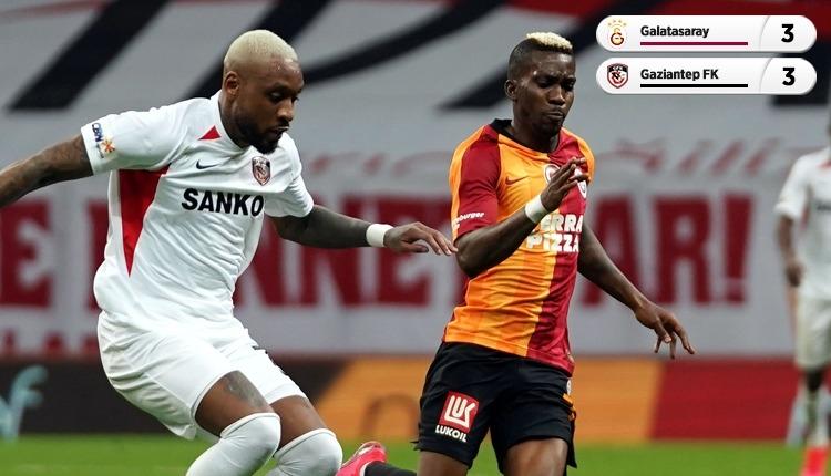 Galatasaray - Gaziantep maçında 6 gol var, kazanan yok (İZLE)