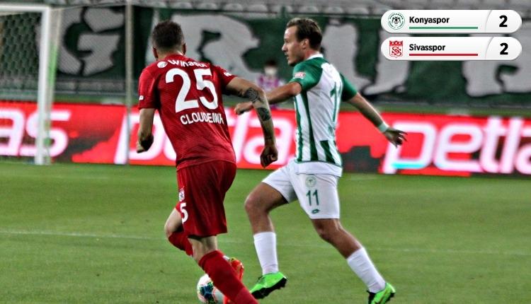 Konyaspor 2-2 Sivasspor maç özeti ve golleri (İZLE)
