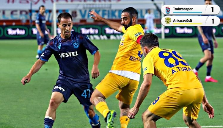 Trabzonspor 1-1 Ankaragücü maç özeti ve golleri (İZLE)