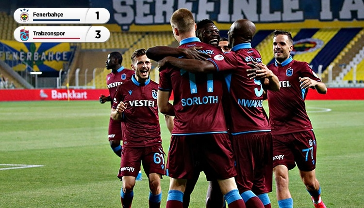 Trabzonspor finalde! (Fenerbahçe 1-3 Trabzonspor maç özeti izle)