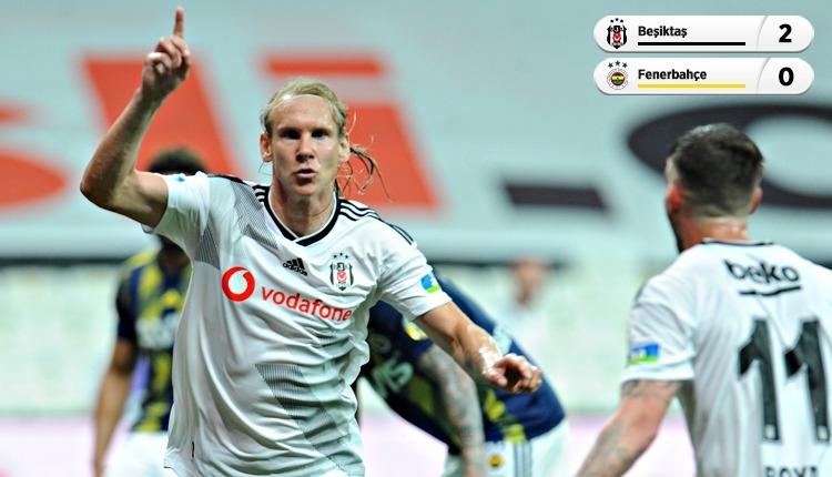 Beşiktaş derbide Fenerbahçe'yi 2 golle geçti (İZLE)