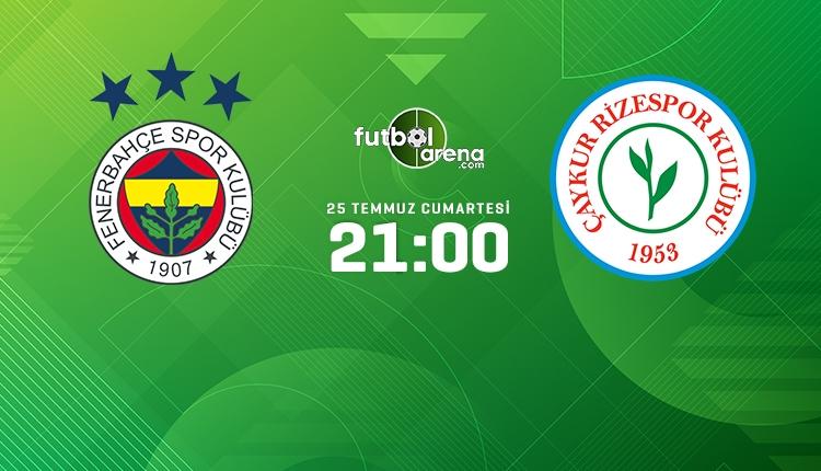 Fenerbahçe-Rizespor canlı izle, Fenerbahçe-Rizespor şifresiz İZLE (Fenerbahçe-Rizespor beIN Sports 2 canlı ve şifresiz İZLE)