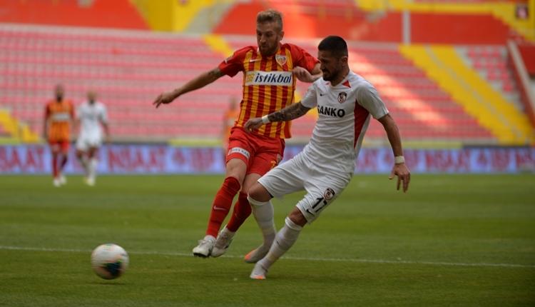 Kayserispor 1-1 Gaziantep FK maç özeti ve golleri (İZLE)