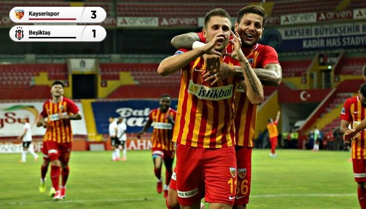 Kayserispor 3-1 Beşiktaş maç özeti ve golleri İZLE