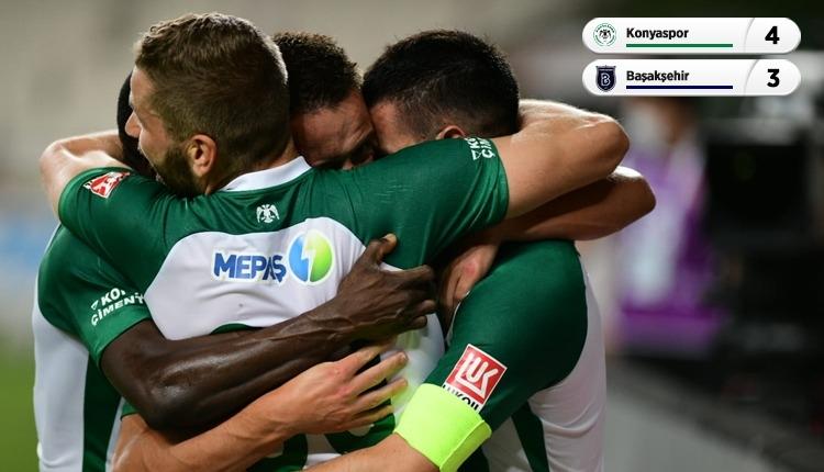 Lidere çelme! (Konyaspor 4-3 Medipol Başakşehir maç özeti izle)