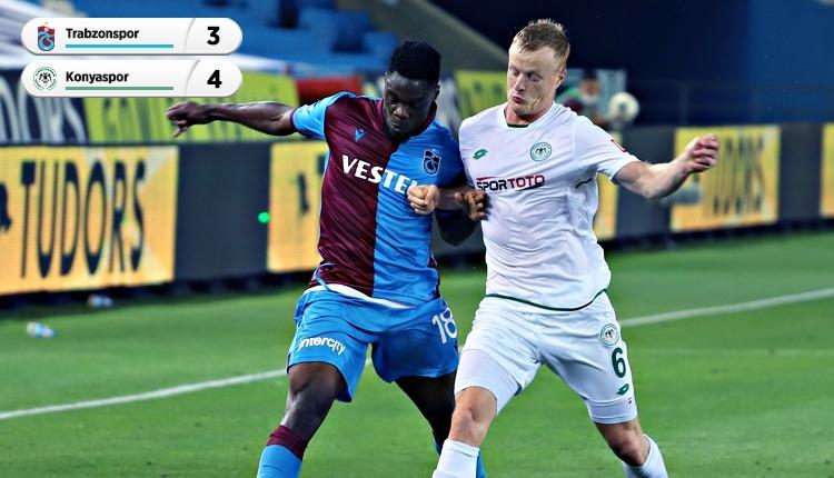 Trabzonspor 3-4 Konyaspor maç özeti ve golleri (İZLE)